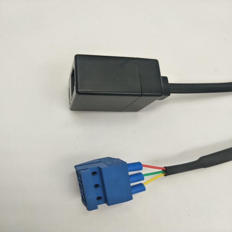 RJ12  6P3C to 连接线端子5.0MM 3PIN 3