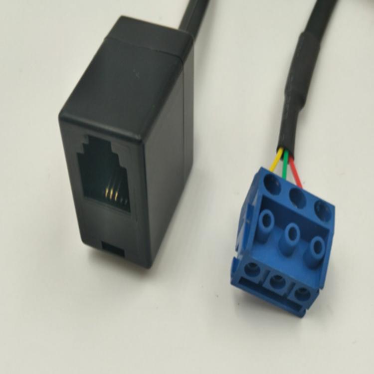 RJ12  6P3C to 连接线端子5.0MM 3PIN 1