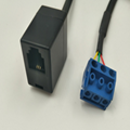 RJ12 PLUG 6P3C TO terminal block 5.0mm