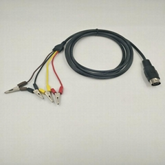 电能表检验检查连接线DIN8M TO 鳄鱼夹