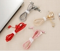 3 IN 1  Nylon braided   usb cable for iphone android and type c  12