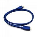 USB3.0移动硬盘数据线三星note3/S5手机西部希捷东芝移动硬盘数据线 5