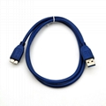 USB3.0 A male to USB3.0 micro B male 5Gbps supper speed data cable  6