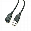 USB3.0延长线 USB3.0数据线USB3.0 AM 对USB3.0AF延长连接线 2