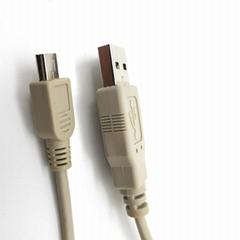 Mini usb数据充电线灰色