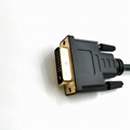 Gold Plated High Resolution  DVI 24+1 male to male  black color cable