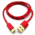 Gold Plated Nylon Braid Type c Charging Cable