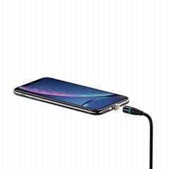 USB三合一尼絨編織磁吸線