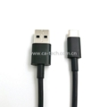 USB 2.0 A male to Type c male  cable black