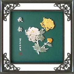 玉雕壁画*B204秋韵-工艺品