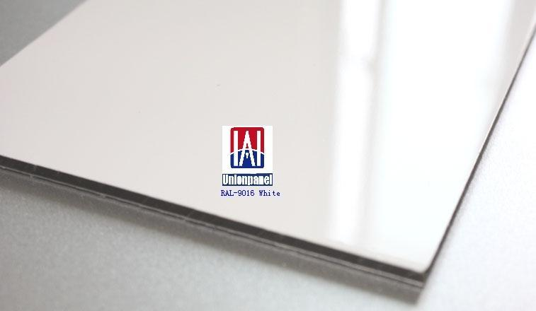 White Aluminum Composite Panel : High gloss polyester coated aluminium composite panel