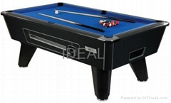 Coin operator pool table