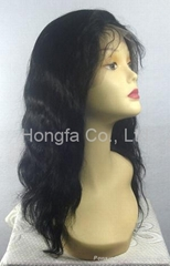 high quality human hair full lace wig, 14 inch