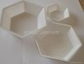 Hexagonal Polystyrene Weighing Dishes 2