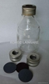 Laboratory Glass Bottles w/ AL Cap w/