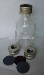 實驗室玻璃瓶 /隔膜 /鋁蓋子