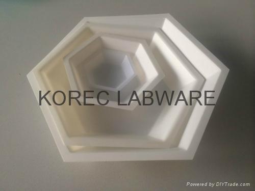 Hexagonal Polystyrene Weighing Dishes 1