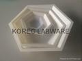 Hexagonal Polystyrene Weighing Dishes