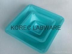 方形塑料稱量皿(藍色)
