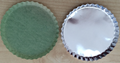Disposable Round Aluminum Dishes with anti-adhensive paper