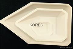 Polystyrene weighing boat or dish weighing canoes