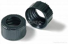 Black Phenolic Screw Caps with Hole