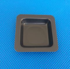 100ML Black Medium Size Plastic Flat Bottom Square Sample Weighing Dish