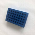 Blue 40 Well UCoolRack Metal Thermoblock Vial rack Test Tube Rack