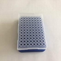 blue 96 well UCoolRack metal thermo conductive PCR microcentrifuge plate micropl
