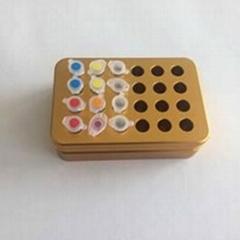 golden 24 well UCoolRack metal thermoblock vial rack test tube rack