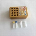 golden 24 well UCoolRack metal thermoblock vial rack test tube rack