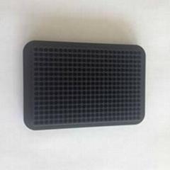 black 384 well U CoolRack metal termo conductive microplate test tube rack PCR p