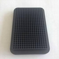 black 384 well U CoolRack metal termo conductive microplate test tube rack PCR p