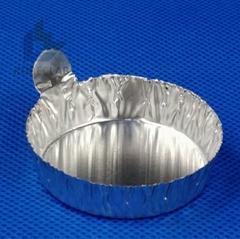 帶手柄鋁制稱量盤 鋁箔稱量盤 稱量盤 稱量皿 小號 100只/包
