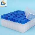 2 ml  with Cap Plastic Cryovial Tube  Cryogenic Self Standing Vial