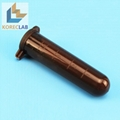 With Cap Lab Usage Conical Bottom Tip Black Plastic Test Vials Sample Micro Cent