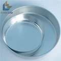 OD 102mm Aluminum Round Weighing Pan Weighing Dish