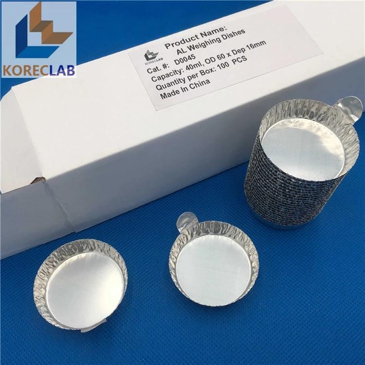 帶手柄鋁制稱量盤 鋁箔稱量盤 稱量盤 稱量皿 中號 5