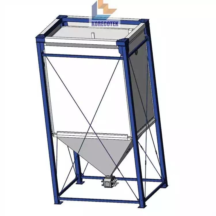 可定制的柔性灵活高性能织物工业散装物料存储料仓 2