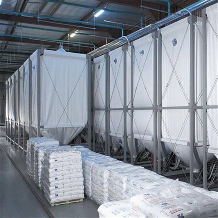 Customized 50m3 plastic molding factory flexible pellet storage silo  1