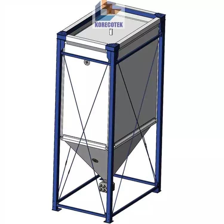 Customized 50m3 plastic molding factory flexible pellet storage silo  3