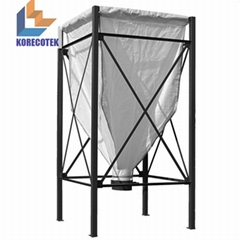 Grain storage container trevira fabric flexible silos