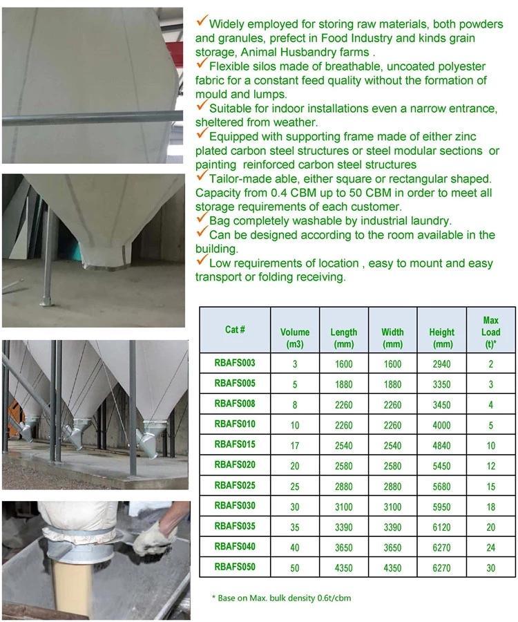 Grain storage container trevira fabric flexible silos  2