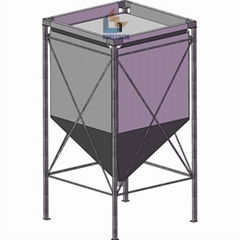 10 ton fabric silo for grain