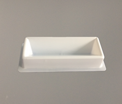 Disposable White Color Plastic Solution Basins Single Channel Reagent Reservoir