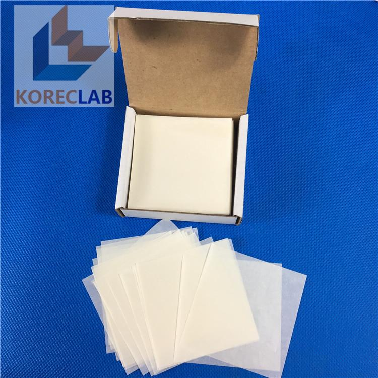 "3"" x 3"" (76 x 76 mm) low nitrogen non absorbing high gloss cellulose weighing sc 4"