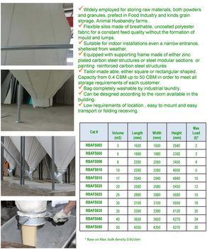 简便灵活柔性高性能散装物料存储织物料仓 8