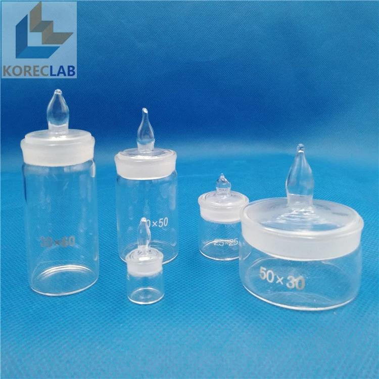 Laboratory glass with Stopper Cylindrical Tall Form Weighing Bottles 2