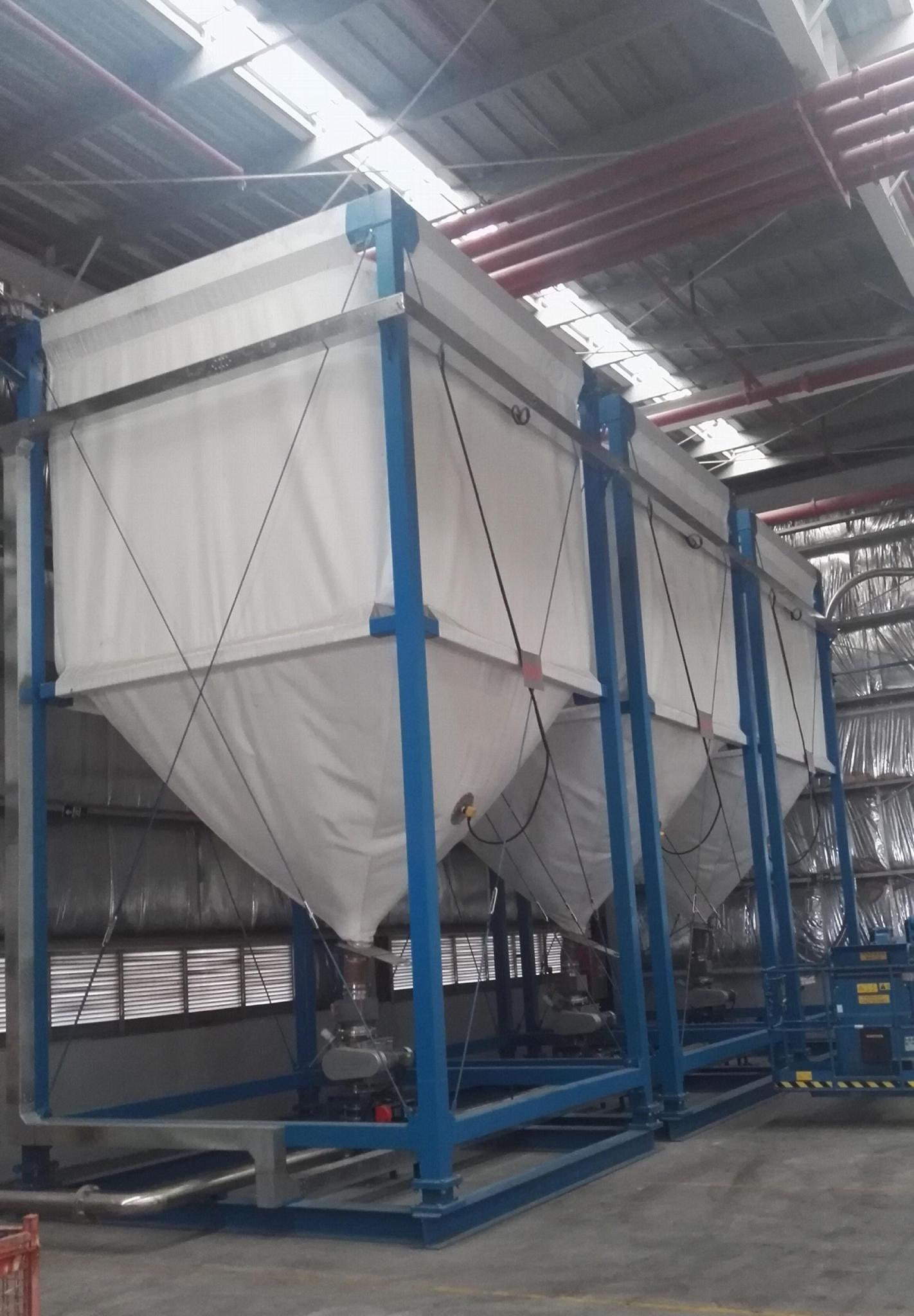 简便灵活柔性高性能散装物料存储织物料仓 1