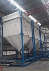 生产制造适合出口的灵活柔性织物食品塑料颗粒粉体储l料仓